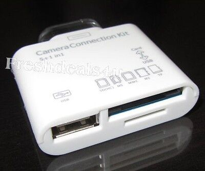 Купить 5in 1 USB Camera Connection Kit SD Card Reader Adapter for iPad 2 New iPad 3 3rd с доставкой