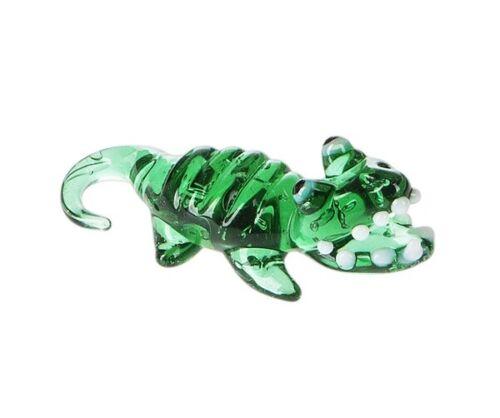 Ganz Miniature World Mini Glass Crocodile Collectible Figurine