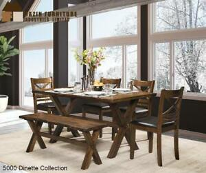 Solid Wood Dining Set - Dining Room Sale (BD-2358)