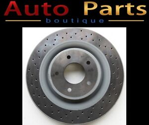 Jaguar NEW OEM Front Cross drilled BREMBO brake disc JLM21749