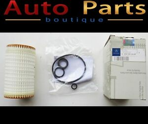 Mercedes Benz 98-14 NEW OEM Genuine Oil Filter Kit 0001802609