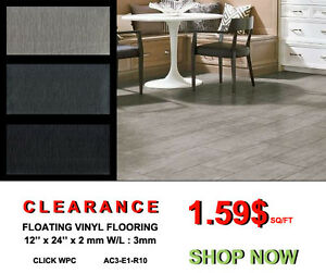 "VINYL FLOORING CLICK - 12""x24"" $1.99/SF - VINYL ON SALE DRY BACK"