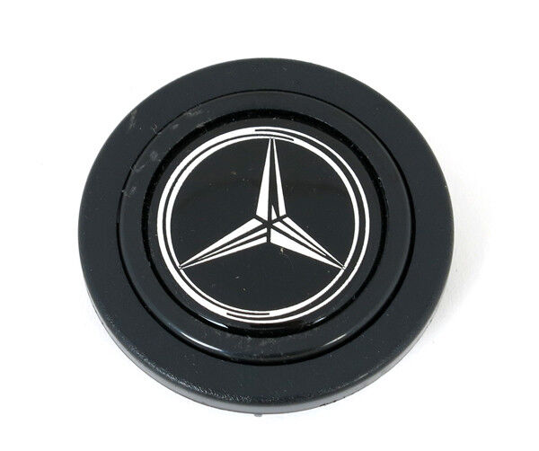 Mercedes Black Horn Button New