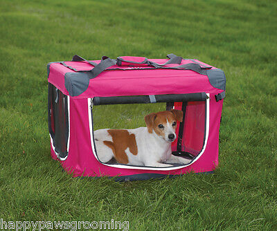 Guardian Gear HEAVY DUTY Collapsible Soft Sided Portable Dog Crate Cage*XS*PINK