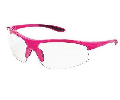 Womans Erb Ella Pink Safety Shooting Glasses Clear Lens Pink Frame New 18618