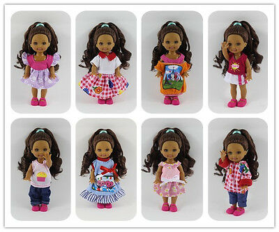 10 PCS  Lovely dress Outfit Clothes  For Barbie's Sister Little Kelly Doll