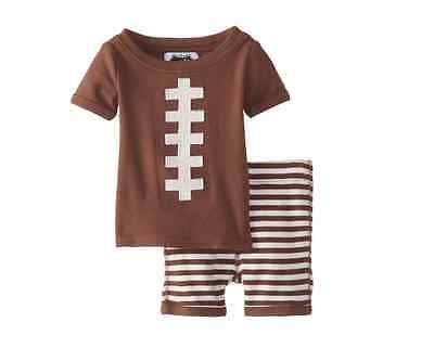 - Mud Pie Boys Football 2pc Lounge Pajama Set NEW Tags AUTHENTIC 3 6 9 months 5T