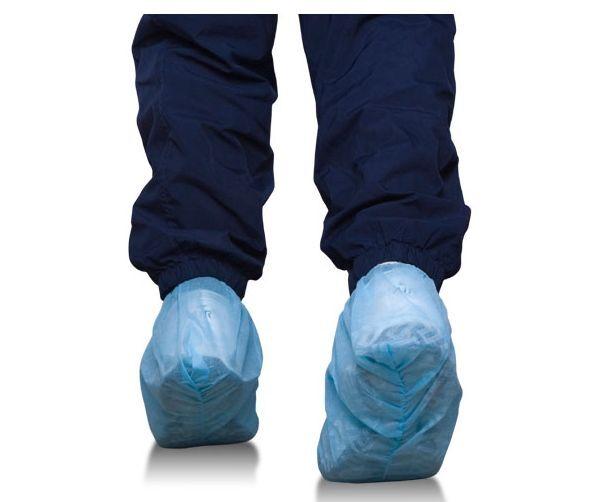 Disposable Shoe Cover, Non Skid Bottom, Blue, 100 pcs/50 pairs