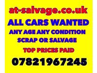 Used cars wanted scrap salvage damaged cars vans wanted cash on collection scrap my car scrap a car
