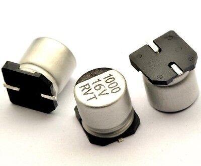 10pcs Smd Aluminum Electrolytic Capacitor 16v 1000uf 10 10mm