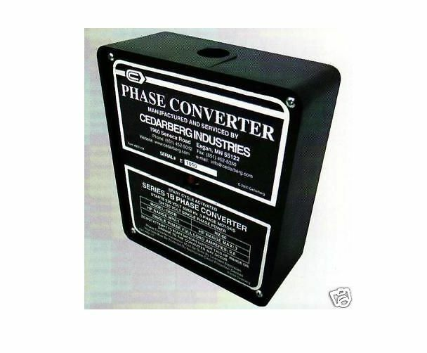 Cedarberg Phase Converter Series Ib Horse Power 3 - 5