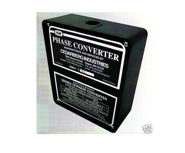 Cedarberg Phase Converter Series Ib Horse Power 1 - 3