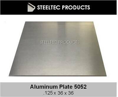 18 .125 Aluminum Sheet Plate 36 X 36 5052