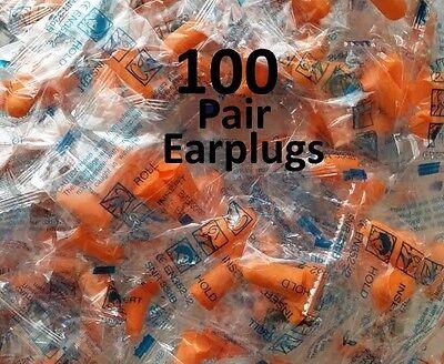 Ear Plugs Foam Sleep Aid Noise Reduction Travel Shoot Hearing Protection 100 Lot