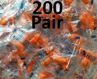 Ear Plugs Foam Sleep Aid Noise Reduction Travel Shoot Hearing Protection 200 Lot
