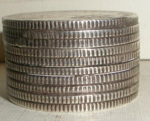 RARE ANTIQUE 1917 BRITISH INDIA SILVER 1 RUPEE COINS PILL BOX