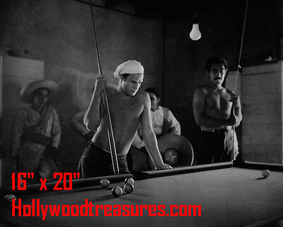"Marlon Brando~Shooting Pool~Playing Pool~Billiards~16""x20""~Poster~ Photo"