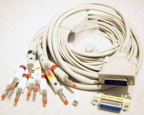 EKG-Diagnosekabel, PC-EKG-Gerät Dr. Vetter, 10-adrig, Bananenstecker