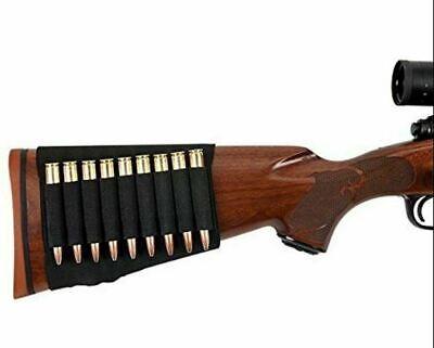 2X Shotgun /& Rifle Butt Stock AMMO HOLDER Bullet Gun Sleeve Shell Hunting Pouch