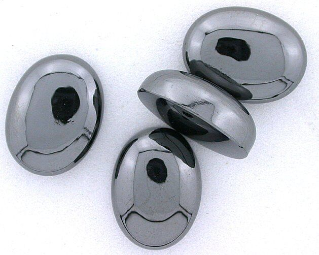 Two 20x15 20mm x 15mm Oval Hematite Cab Cabochon Gemstone Gem Stone hc41