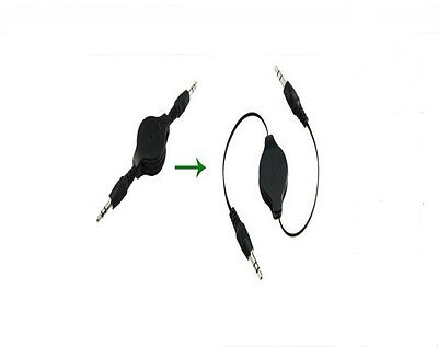 New 3 5Mm Cable Hot Sell Black Aux Retractable Auxiliary Cord For Ipod Car Mp3 U