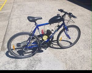 Motorised bike byiwith superhawk R80cc engine Williamtown Port Stephens Area Preview