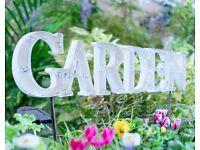 Solar Garden Sign
