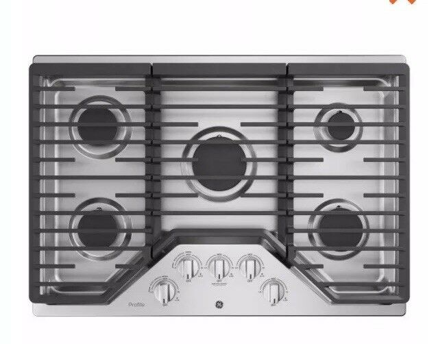 "GE Profile 30"" Gas Cooktop Stainless steel PGP7030SLSS"