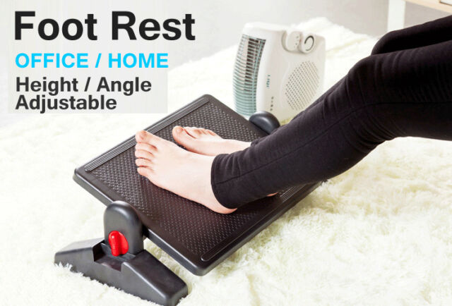 height angle adjustable premium foot rest office computer desk footrest comfort