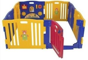 Baby Kids 6 side Playpen with Gate