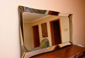 **HUGE** HIGH END ANTIQUE Floor Mirror PRICED TO GO!