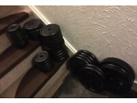 191kg standard cast iron weights plus bars
