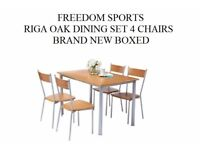 Riga Dining Table And 4 Chairs BRAND NEW BOXED OAK