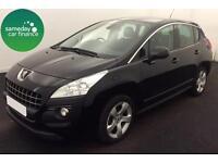 £182.72 PER MONTH BLACK 2013 PEUGEOT 3008 CROSSOVER 1.6 ACTIVE DIESEL AUTO