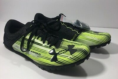 b88f890105e8e Under Armour Kick Distance Track Men Spikes Black Neon Size 12 -1273939 300