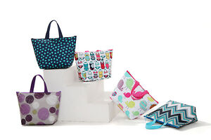 New-Insulated-Tote-Lunch-Bag-Cool-Bag-Cooler-Lunch-Box-Multiple-Designs