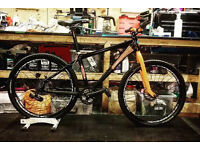 Custom built Orbea rigid mountain bike