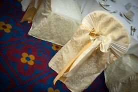 Ivory Damask Chair Covers x 100