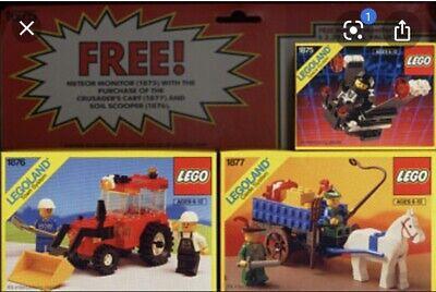 Vintage LEGO 1675 3 Set Bundle Pack Town Castle Space 1875 1876 1877 RARE w BOX!