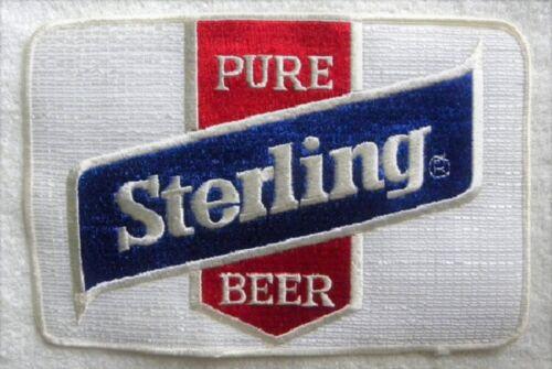 """Vintage Sterling Pure Beer, Very Large 6"""" x 9"""" Employee Jacket PATCH, Unused"""