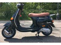 Vespa ET2 50cc, 2003, Black, Full MOT, Excellent Condition