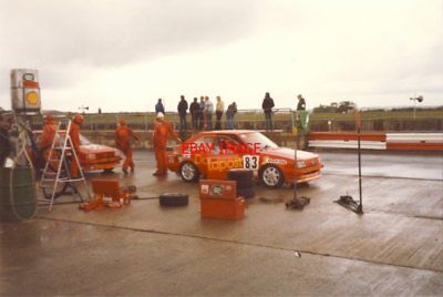 PHOTO  TWO DATAPOST FORD ESCORT RS1600IS IN THE PI TOURIST TROPHY SILVERSTONE 10