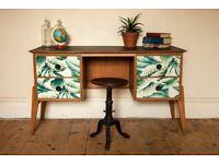 """Mid Century 1960's """"Meredew Furniture"""" Kneehole Teak Desk"""