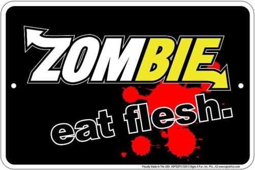 ZOMBIE Metal Sign Subway Sandwich Spoof - Eat Fresh Eat Flesh - the Walking Dead