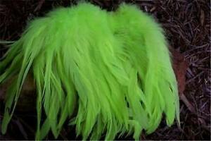50-CHARTREUSE-SCHLAPPEN-ROOSTER-FEATHERS-6-8-NICE