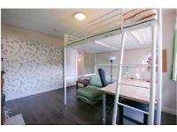 Ikea loft double bed frame white mental - deliver optional