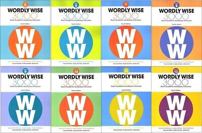 4TH EDITION Wordly Wise 3000 Grade 5 - 12 Student Books