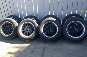 Studded winter tires and rims from 2010 VW Touareg