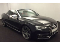 Black AUDI S5 CABRIOLET CONVERTIBLE 3.0 T FSI Petrol QUATTRO FROM £88 PER WEEK!