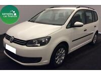 £244.26 PER MONTH WHITE 2013 VW TOURAN 1.6TDI BMT S DIESEL MANUAL 7 SEATER